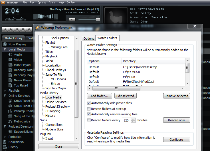 WinAmp_Watch_Folders